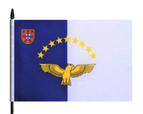 Portugal Azores Medium Hand Waving Flag