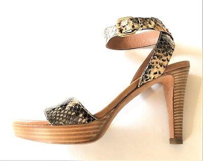 FRATELLI ROSSETTI python print leather platform sandals - size 38,5  - shoes