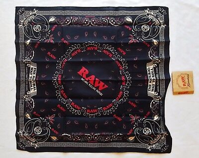 Limited Edition RAW The Natural Way to Roll Rolling Papers Bandana 21.5
