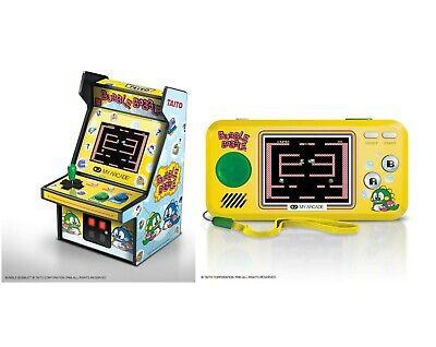 "MY ARCADE TAITO BUBBLE BOBBLE 6.75"" Retro Micro Arcade + Pocket Player Handheld"