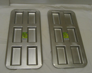 Gobel tinned-steel financier baking pans- 6 cavity* 2 pans-NEW