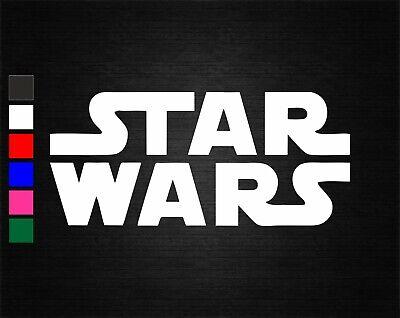 STAR WARS FILM LOGO VINYL DECAL STICKER CAR/VAN/WALL/LAPTOP/TABLET/WINDOW/ROOM