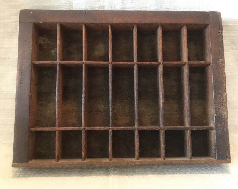 Antique Hamilton Mfg Co Printing Letter Press Drawer Shelf Small 11.5 X 8.5 Wood