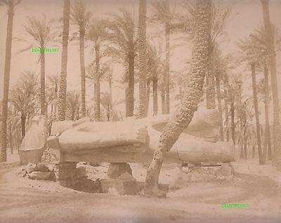 Albumin Foto - Statur Ramses II in Memphis Ägypten egypt -  1880 / 1890 !