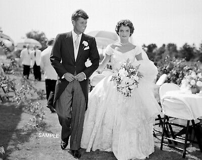 8x10 UNSIGNED PHOTO PRINT OF Jackie Kennedy and John F. Kennedy's Wedding (John F Kennedy And Jackie Kennedy Wedding Photos)