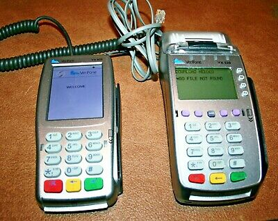 Verifone Vx520 Emv Credit Card Terminal Vx820 Pin Pad Bundle