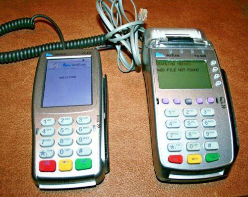 Verifone VX520 EMV Credit Card Terminal & VX820  PIN PAD Bundle
