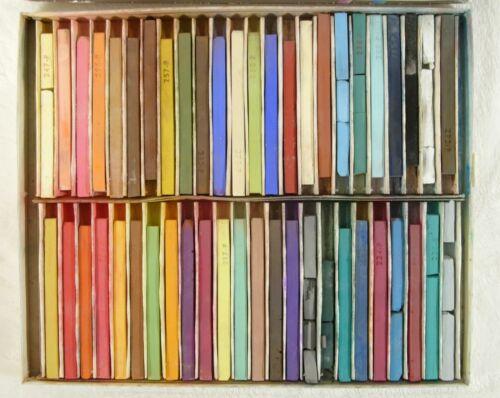 Used Design Nupastel 48 Color Assorted Pastel Color Sticks Faber Castell Vintage