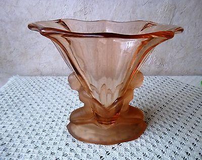 Art Deco- 1 Figürliche Vase Walther Glas-Windsor,Pressglas,Rarität