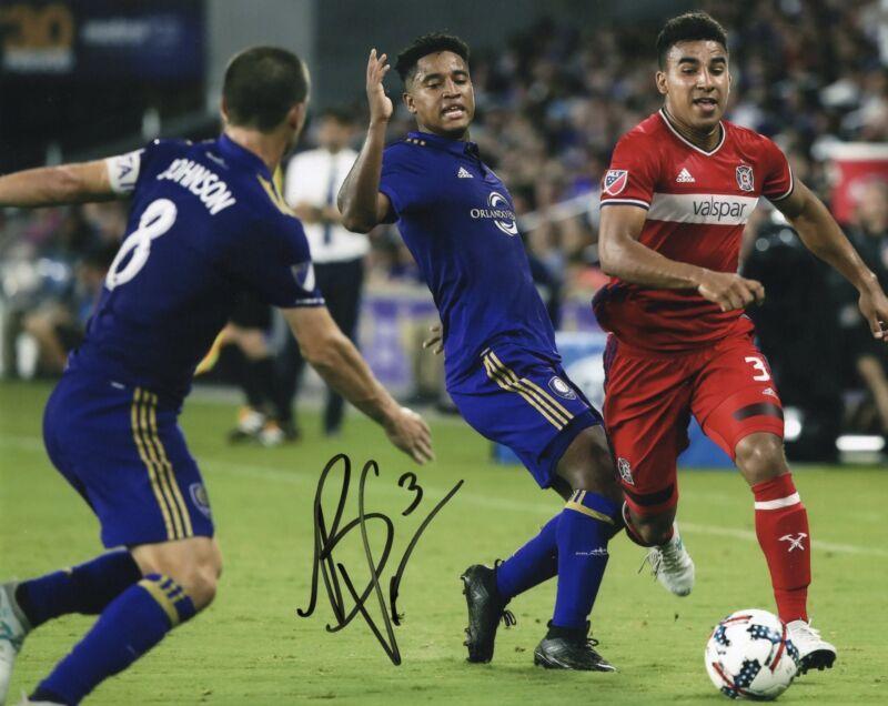 Brandon Vincent signed 8x10 Photo w/COA Chicago Fire MLS Soccer