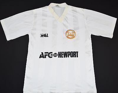 1989-1990 NEWPORT COUNTY SPALL AWAY FOOTBALL SHIRT (SIZE B) image