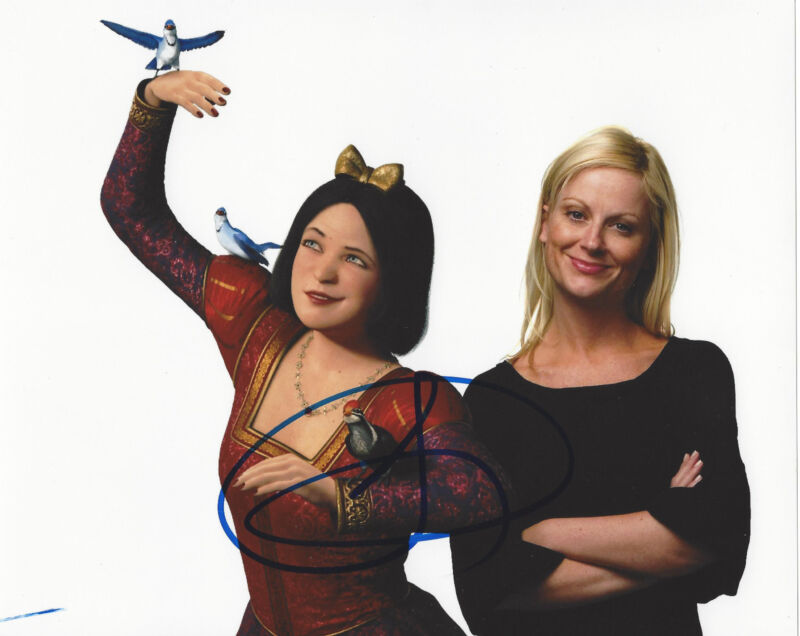 AMY POEHLER SIGNED 'SHREK' 8X10 PHOTO w/COA SNL PARKS AND RECREATIONS ACTRESS