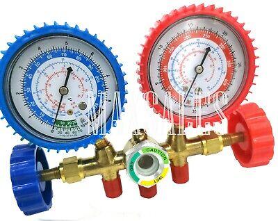 New R134a R12 R22 Manifold Gauge Set Hvac Ac Refrigeration Test