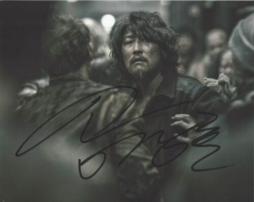 ACTOR SONG KANG-HO SIGNED SNOWPIERCER 8x10 PHOTO C w/COA PARASITE MOVIE THE HOST