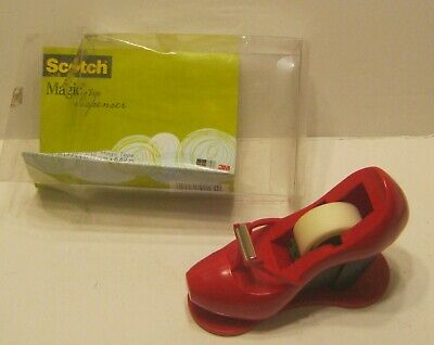 2010 Scotch Magic Tape Dispenser Red High Heel Shoe New In Open Package