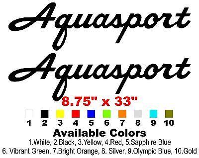 """Classic Aquasport Boat Decals 8.75""""x33"""""""