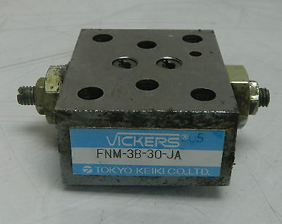 Vickers Hydraulic Valve Fnm-3b-30-ja Used Warranty