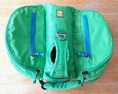 RuffWear Approach Pack Dog Backpack Like New Size XS Green (Dog Backpack Ruffwear)