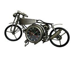 Cool Rustic Retro Vintage Metal Motorcycle Motorbike Clock Home Table Decor