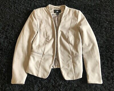 H&M Women's Blazer (Tan) Jacket Office Cute Classic Size 4