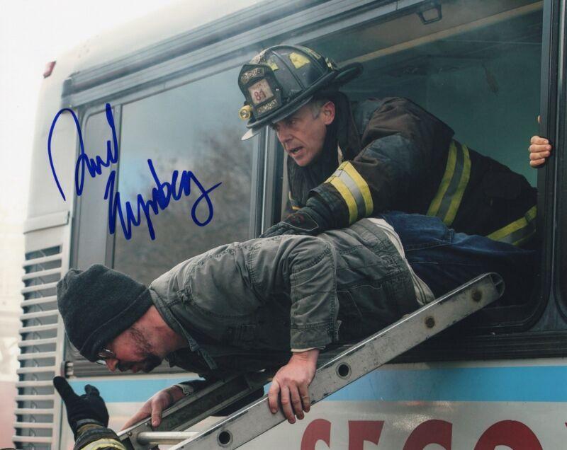 David Eigenberg signed 8x10 Photo w/COA Chicago Fire Christopher Herrmann