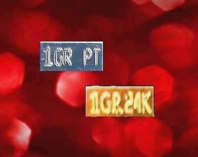 2 PACK ACB Gold & Platinum 1GRAIN Bullion Minted Pt && Au Bars + silk bag +
