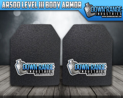 Body Armor AR500 Level 3 Set Of Plates Curved 10x12