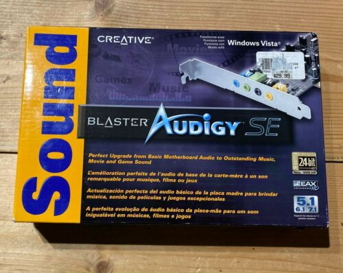 New Creative Sound Blaster Audigy SE PCI Sound Card !!! NOS, SEALED BOX !!!