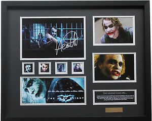 New Heath Ledger Signed Batman Dark Knight Joker Limited E