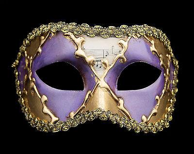 Mask Wolf from Venice Colombine Sinfonia Golden Purple for Fancy 132 V39B