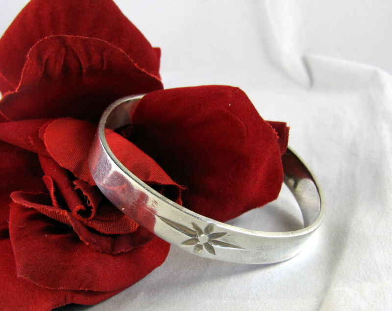 Sterling Silver 32g STar Design  Cuff Bracelet FERAL CAT RESCUE