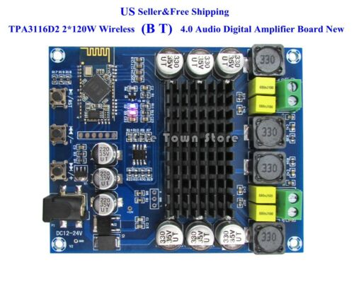 US TPA3116D2 2*120W Wireless Bluetoth 4.0 Audio Receiver Digital Amplifier Board