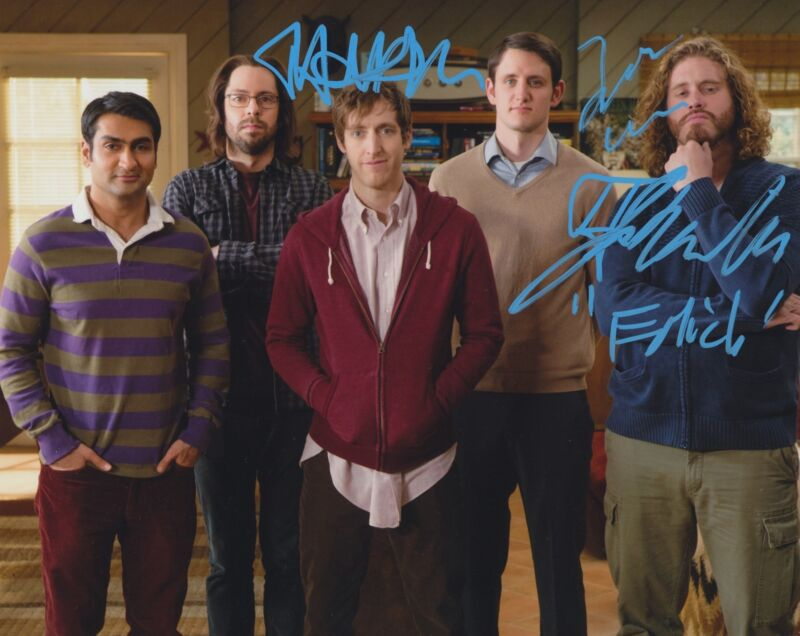 SILICON VALLEY CAST SIGNED 8X10 PHOTO 3