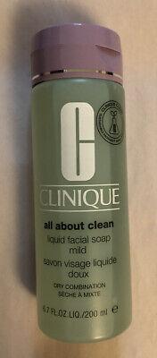 Clinique All About Clean Liquid Facial Soap Mild 6.7oz/200ml Dry/Combination NEW