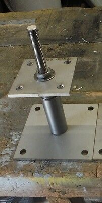 Adjustable Height Post Support shoe for 75 - 100mm post in S/Steel 100x100 BASE