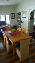 Solid Timber Dining Set (Table + 6 Chairs) Auchenflower Brisbane North West Preview