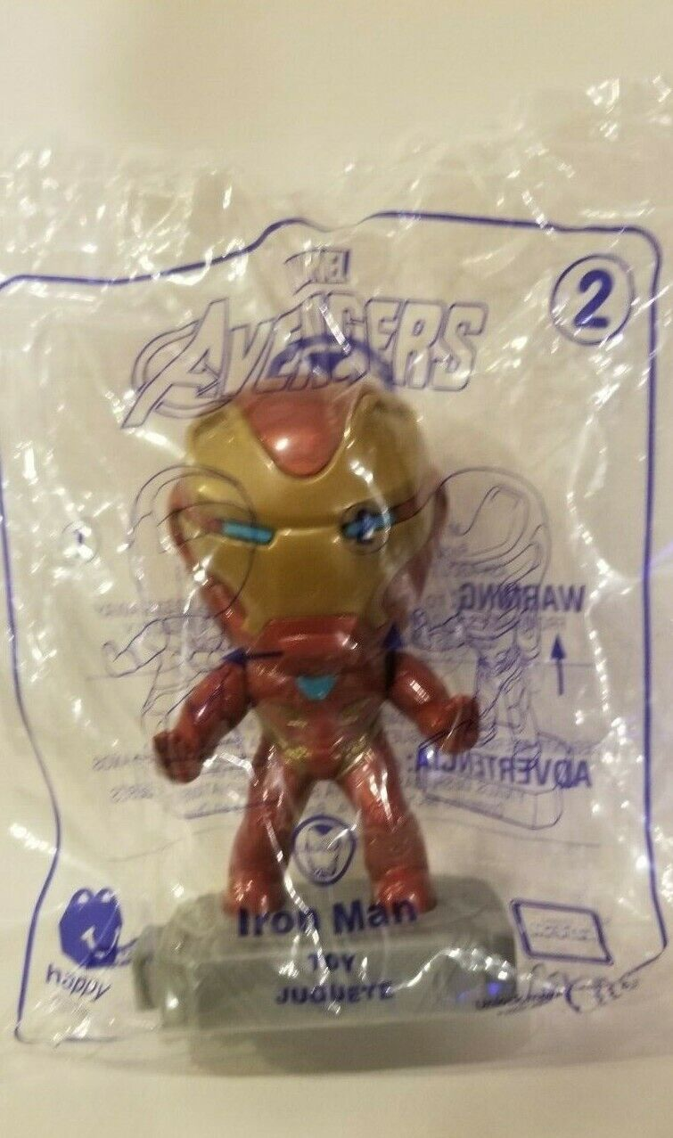 Avengers (2019) McDonalds Happy Meal Toys- Fast Shipping! #2 Iron Man