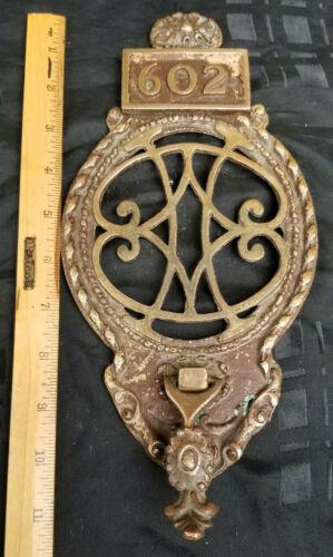 Antique Victorian Door Knocker Solid Brass