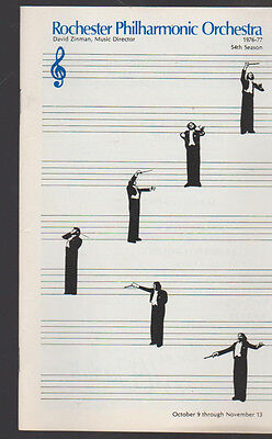 Rochester Philharmonic Orchestra RPO Program 1976 Peter Binder Malcolm Frager