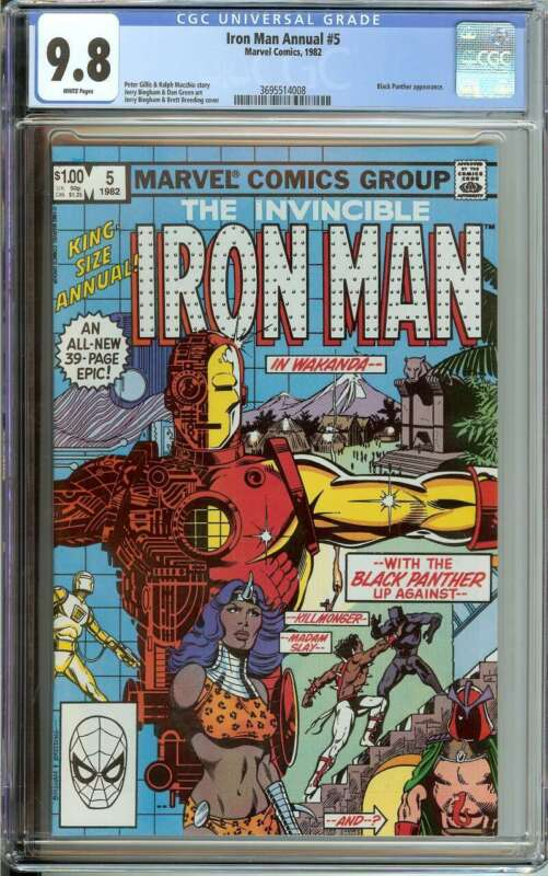 IRON MAN ANNUAL #5 CGC 9.8 WHITE PAGES