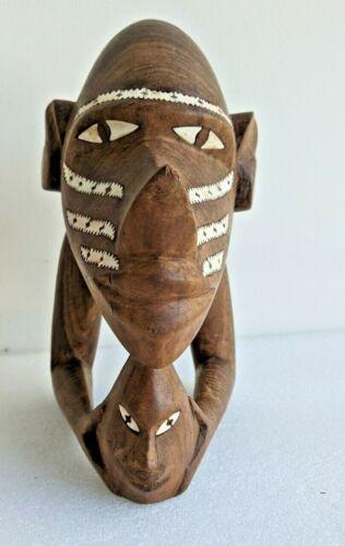 Rare Vintage Solomon Islands Nguzunguzu Canoe Figure Carving