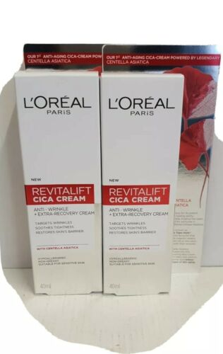 L'Oreal Revitalift  Repair Anti-Wrinkle Cica Cream with centella  40ml x 2 tubes