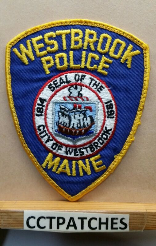 WESTBROOK, MAINE POLICE SHOULDER PATCH ME