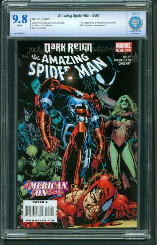 Amazing Spider-Man #597 (2009) CBCS Graded 9.8 1st American Son Armor