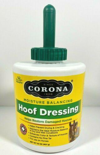 CORONA Hoof Dressing Plus Brush Natural Hoof Growth 32 oz Equine Horse