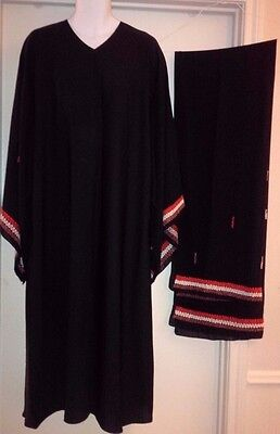 """BLACK ABAYA 2PCS(ABAYA with Matching Scarf"""")SIZE L(52) color Design front open"""