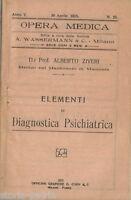 Medicina_psichiatria_manicomio Di Macerata_diagnostica Psichiatrica_1915_ziveri -  - ebay.it