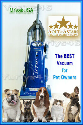 THE BEST VACUUM! CIRRUS CR99 PET EDITION,HEPA+2YearsSupplyBags(24)+HEPA