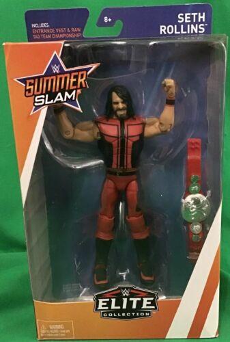WWE Summerslam Elite Collection Seth Rollins Action Figure M