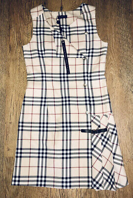 Burberry Girls  Dress Checked Size Age 14 Years
